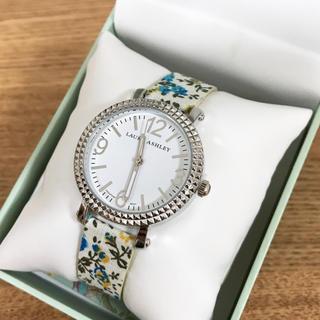 ローラアシュレイ(LAURA ASHLEY)の☆特価 ローラアシュレイ 腕時計 ブルーフローラル Laura Ashley(腕時計)