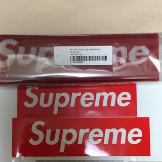 シュプリーム(Supreme)の送料込 Supreme New Era Big Logo Headband 赤(その他)