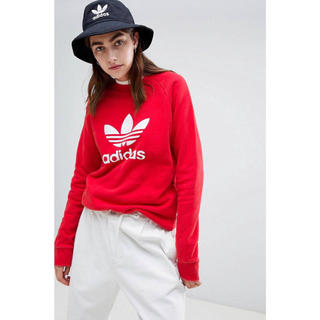 アディダス(adidas)の【Sサイズ】新品未使用タグ付き adidas トレーナー アディダス レッド(トレーナー/スウェット)