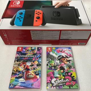 ニンテンドースイッチ(Nintendo Switch)のNintendo Switch 本体+ソフト2本(家庭用ゲーム本体)