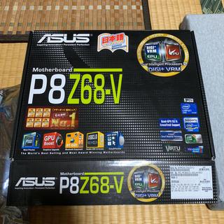 エイスース(ASUS)のマザーボード ASUS  P8Z68-V  メモリ DDR3 4GB*2枚付(PCパーツ)