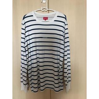 シュプリーム(Supreme)のLogo Stripe L/S Top ロンt(Tシャツ/カットソー(七分/長袖))