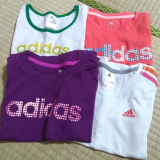 adidas - adidas 120 半袖Tシャツ4枚セット