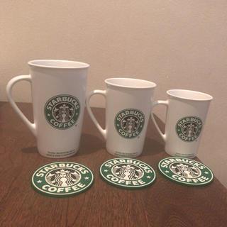 Starbucks Coffee - 大中小スターバックスのマグカップとコースター
