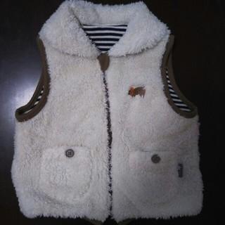 ベルメゾン(ベルメゾン)のボア ベスト もこもこ サイズ100 白(ジャケット/上着)