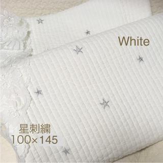 星刺繍 プレミアム⭐️韓国 イブル ラグ   100×150(±5)ホワイト
