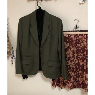 ローラアシュレイ(LAURA ASHLEY)のジャケット ローラアシュレイ カーキ 9AR ウール(テーラードジャケット)