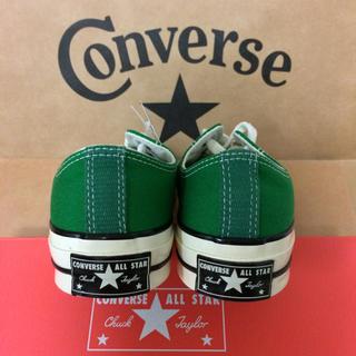 コンバース(CONVERSE)のグリーン 27cm ct70s converse (スニーカー)