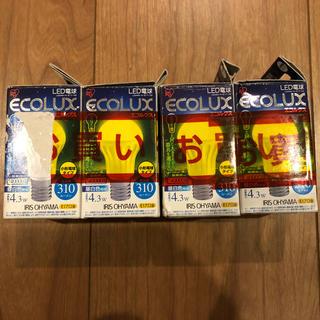 アイリスオーヤマ(アイリスオーヤマ)のLED電球 エコルクス 小形電球タイプ 昼白色 4個セット(蛍光灯/電球)