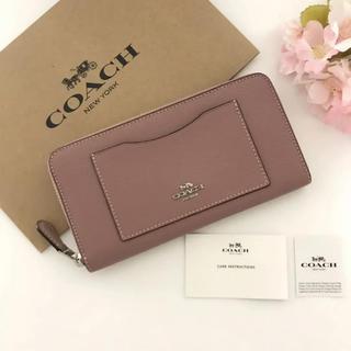 COACH - COACH新作【新品】COACH★長財布 ダスティローズ ピンク