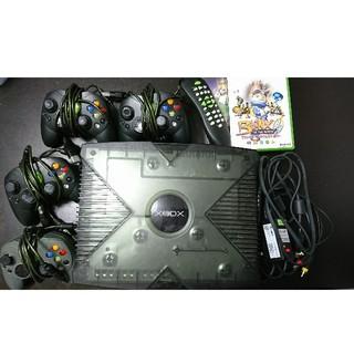 エックスボックス(Xbox)の初代XBOX 限定カラー コントローラー4つ コード付属 完動(家庭用ゲーム機本体)