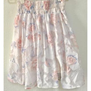 アイズビット(ISBIT)の【夏物SALE】花柄 スカート ISBIT (ひざ丈スカート)