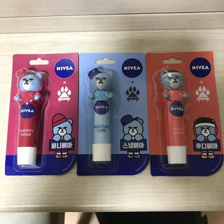 アイコン(iKON)の韓国 ニベア  クランク   リップクリーム  3本(リップケア/リップクリーム)