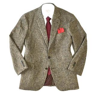 ブルックスブラザース(Brooks Brothers)の極美品★ブルックスブラザーズ×ハリスツイード高級ジャケット☆43R(XL☆490(テーラードジャケット)