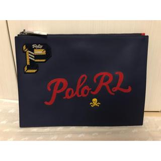 POLO RALPH LAUREN - ポロ ラルフ ローレン 刺繍、ワッペンレザーポーチ 未使用品 送料込