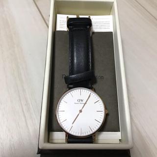 ダニエルウェリントン(Daniel Wellington)のダニエルウェリントン Daniel Wellington 時計  ブラック 黒(腕時計(アナログ))