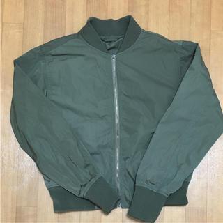ジーユー(GU)のGU MA-1ジャケット カーキ色(ブルゾン)