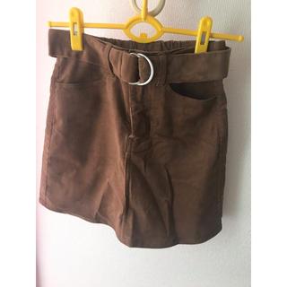 GRL - GRL  共ベルト付きコーデュロイスカート