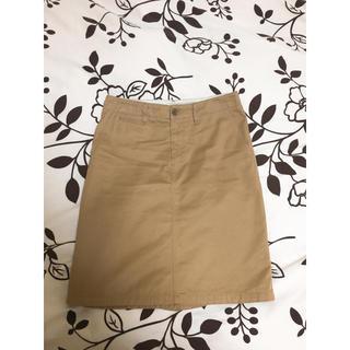 ムジルシリョウヒン(MUJI (無印良品))のチノタイトスカート(ひざ丈スカート)