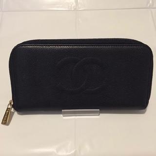 CHANEL - ◆正規品◆ CHANEL ラウンド⻑財布 ⼩銭⼊ 財布