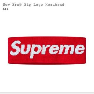 シュプリーム(Supreme)のSupreme New Era Big Logo Headband 赤(その他)