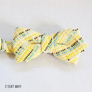 ジラフ(giraffe)の立体レジメンタル チェック 蝶ネクタイ ボウタイ マルニ(ネクタイ)