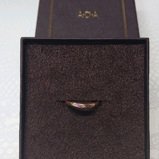 ヨンドシー(4℃)のADAジュエリー♡リング♡K10/ピンクゴールド/ピンクサファイア/ダイヤモンド(リング(指輪))