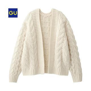 GU - チャンキーケーブルカーデ(長袖)GU