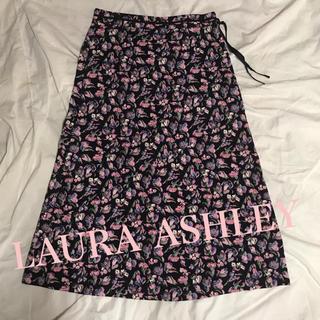ローラアシュレイ(LAURA ASHLEY)の美品 ローラアシュレイ スカート LAURA ASHLEY 花柄スカート(ロングスカート)