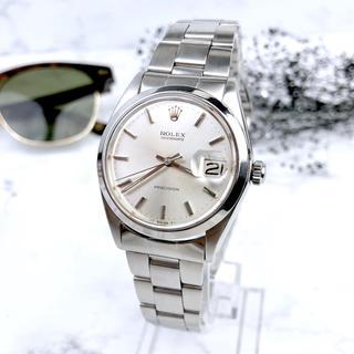 ロレックス(ROLEX)の【仕上済】ロレックス メンズ オイスター デイト シルバー 腕時計(腕時計(アナログ))