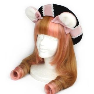 アンジェリックプリティー(Angelic Pretty)の【新品】Doll's Bearベレー(クロ)(ハンチング/ベレー帽)