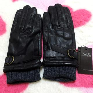 アズールバイマウジー(AZUL by moussy)のアズール やぎ皮革 手袋(手袋)