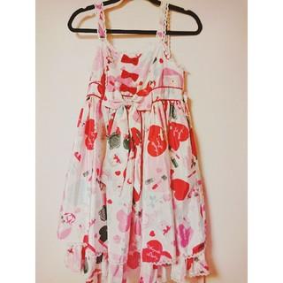 アンジェリックプリティー(Angelic Pretty)のlovely shopping ジャンパースカート angelic pretty(ひざ丈ワンピース)