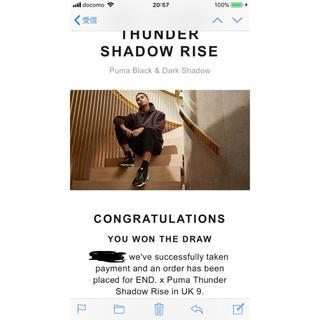 プーマ(PUMA)のPuma thunder shadow rise uk9(スニーカー)