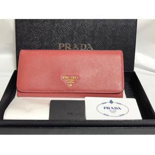 プラダ(PRADA)の[送料無料]正規品✨ PRADA 二つ折り長財布 サフィアーノ ピンク(財布)