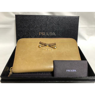 プラダ(PRADA)の[送料無料]正規品✨ PRADA ラウンドファスナー ブラウン(財布)