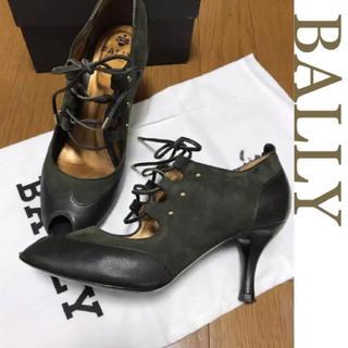 バリー(Bally)のBALLY レースアップブーティ*オープントゥ*23.5(ブーティ)