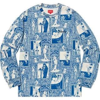 シュプリーム(Supreme)のSupreme Salome Top 青 Sサイズ (Tシャツ/カットソー(七分/長袖))