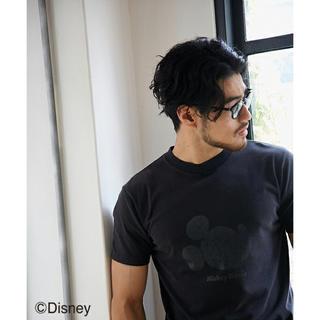 アズールバイマウジー(AZUL by moussy)の新品・未使用⭐️AZUL by moussy ミッキーマウス横顔Tシャツ(Tシャツ/カットソー(半袖/袖なし))