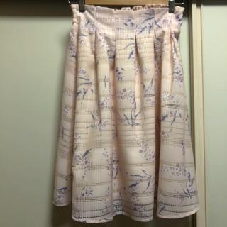 しまむら - 花柄フレアスカートLサイズ