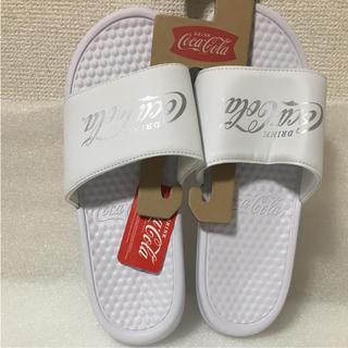 新品タグ付☆コカコーラ シャワーサンダル【ホワイト】XL 26〜27㎝(サンダル)