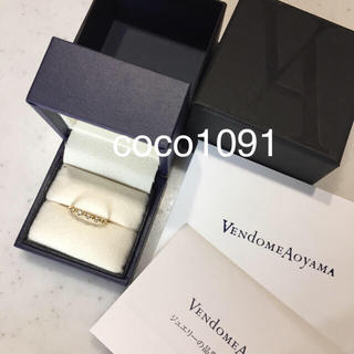 ヴァンドームアオヤマ(Vendome Aoyama)の未使用 2018年 ヴァンドーム青山 k18 ダイヤ リング エタニティリング(リング(指輪))