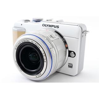 オリンパス(OLYMPUS)の☆おしゃれなホワイト♪WiFi対応☆オリンパス E-PL1 レンズキット(ミラーレス一眼)