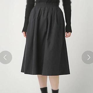 アズールバイマウジー(AZUL by moussy)のリバーシブル スカート カーキー&ブラック(ひざ丈スカート)