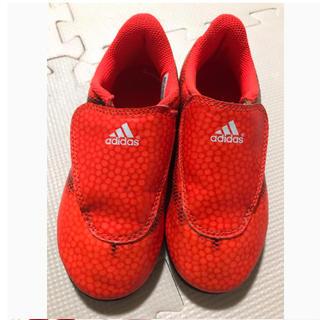アディダス(adidas)の17センチ サッカーシューズ  トレーニングシューズ スパイク オレンジ(その他)