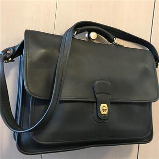 コーチ(COACH)の超美品 約9万円 coach 2wayグローブレザー×フルグレインレザー(ビジネスバッグ)