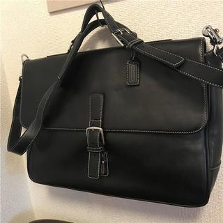コーチ(COACH)の美品 COACH 約80000 2wayフルグレインレザービジネスバッグ(ビジネスバッグ)