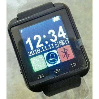 新品未使用✩送料込み♪Bluetooth スマートウォッチ 【ブラック】(腕時計(デジタル))