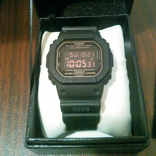 ジーショック(G-SHOCK)のG-SHOCK DW-5600MS-1DR MAT BLACK RED EYE(腕時計(デジタル))