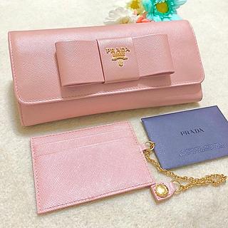 プラダ(PRADA)のPRADA 長財布リボン♡パスケース(財布)